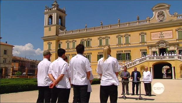 Risotto Challenge at ALMA with Dean of ALMA, Master Chef Gualtiero Marchesi