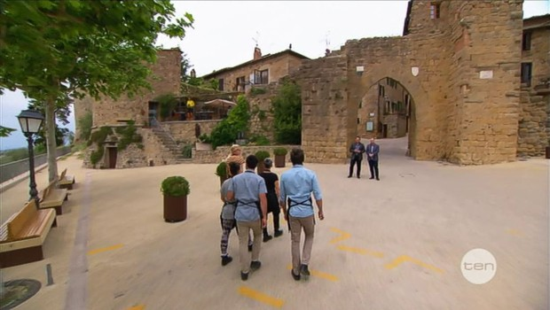 Elimination Challenge in the medieval town of Monticchiello