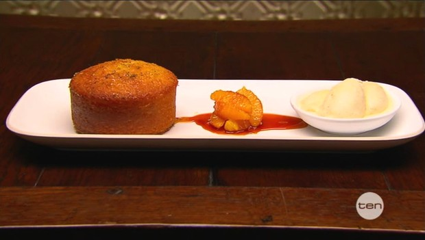 Julia's Lemon Syrup Cake with Lemon Curd Ice Cream