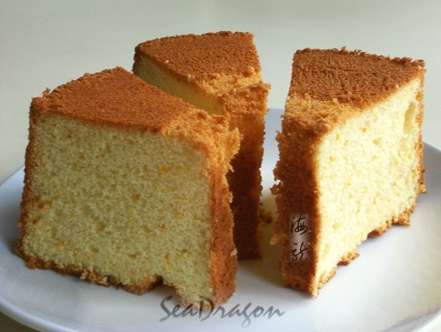 Orange Chiffon Cake using bread flour
