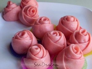 Steamed Rosebuds