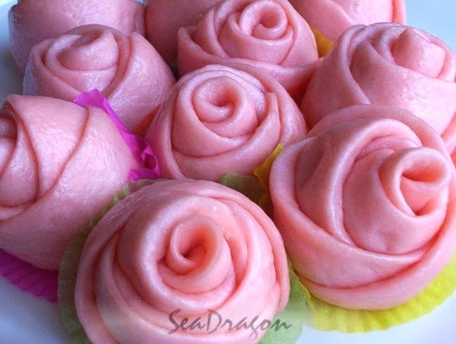 Steamed Rosebuds