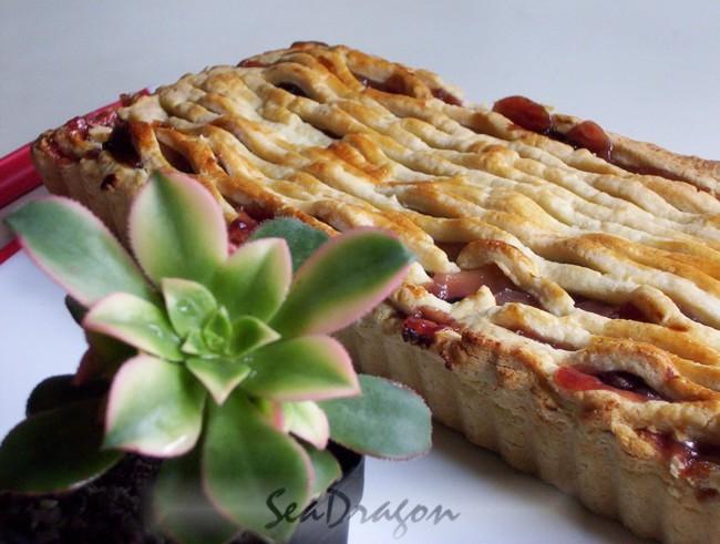 Tart Cherry & Apple Pie 09