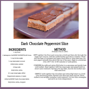 Dark Chocolate Peppermint Slice