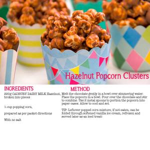 Hazelnut Popcorn Clusters