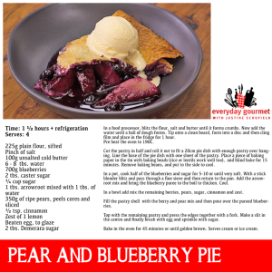 Pear and Blueberry Pie