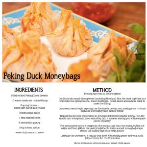 Peking Duck Moneybags