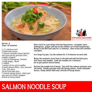 Sal's Salmon and Noodle Soup