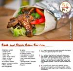 Beef and Black Bean Burrito (Adrian Richardson)