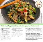Beef and Egg Stir Fry with Ginger and Mushrooms (Adrian Richardson)