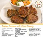 Cashew Fritters with Salsa Topping (Zoe Bingley-Pullin)