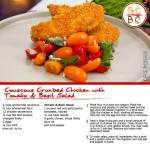 Couscous Crumbed Chicken with Tomato & Basil Salad (Adam Swanson)
