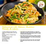 Fettuccine with Salmon, Zucchini Flower & Lemon (Adam Swanson)