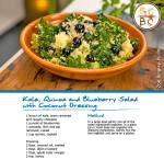 Kale, Quinoa and Blueberry Salad with Coconut Dressing (Zoe Bingley-Pullin)
