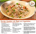 Korean Noodles with Beef and Vegetables (Adrian Richardson)