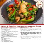 Salmon and Bok Choy Chilli Stir-Fry Served with Fragrant Quinoa (Zoe Bingley-Pullin)