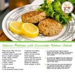 Salmon Patties with Cucumber Ribbon Salad (Zoe Bingley-Pullin)