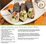 Spicy Cashew and Avocado Sushi Rolls (Zoe Bingley-Pullin)