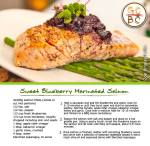 Sweet Blueberry Marinated Salmon (Zoe Bingley-Pullin)