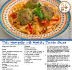 Tofu Meatballs with Healthy Tomato Sauce (Zoe Bingley-Pullin)