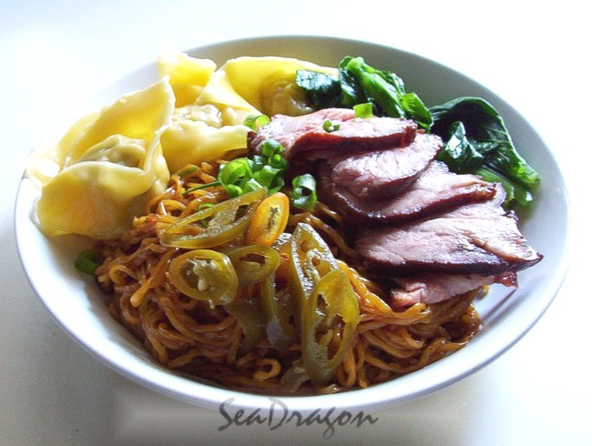 The ultra delicious Malaysian Dry-Tossed Wonton Noodle (Wantan Mee).